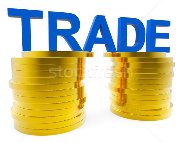 貿易 成長 お金 エクスポート ストックフォト © stuartmiles