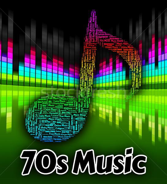 Zeventig muziek geluid track audio Stockfoto © stuartmiles