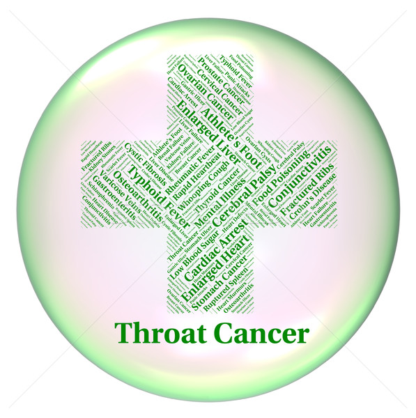 Throat Cancer Represents Malignant Growth And Cancers Stock photo © stuartmiles