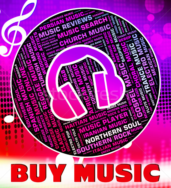 Buy Music Indicates Sound Track And Acoustic Stock photo © stuartmiles