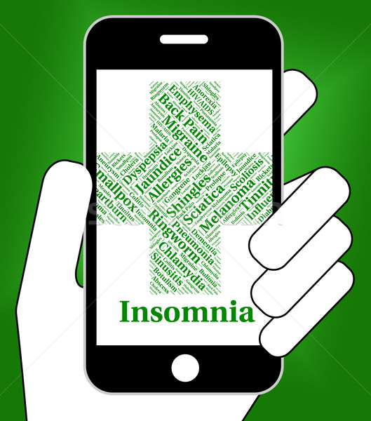 Insomnia Illness Represents Poor Health And Ailment Stock photo © stuartmiles