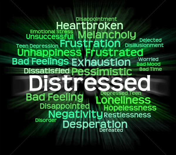 Distressed Word Shows Distressing Desperate And Wordcloud Stock photo © stuartmiles