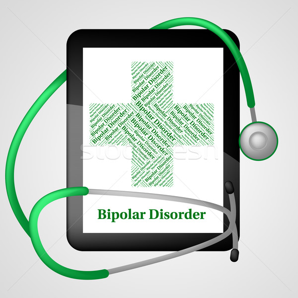 Bipolar Disorder Represents Manic Depressive Psychosis And Ailme Stock photo © stuartmiles