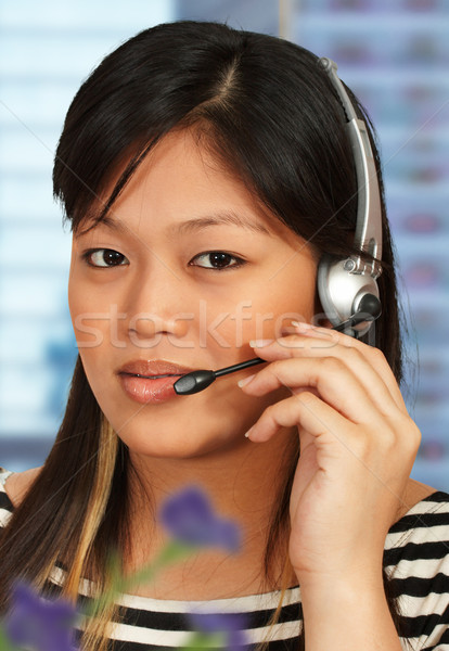 ホットライン アシスタント 電話 話し 顧客 オフィス ストックフォト © stuartmiles
