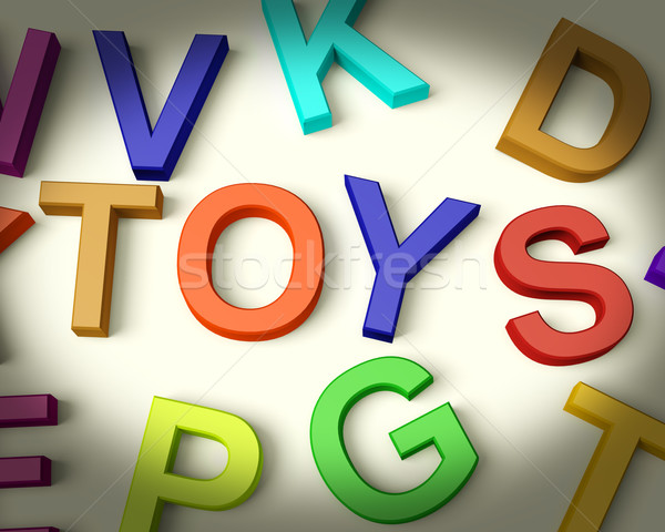 Toys Written In Plastic Kids Letters Stock photo © stuartmiles
