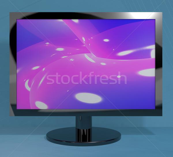 Tv monitor áll nagyfelbontású televízió kék Stock fotó © stuartmiles