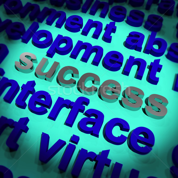 Success Word Showing Achievement Vision And Determination Stock photo © stuartmiles