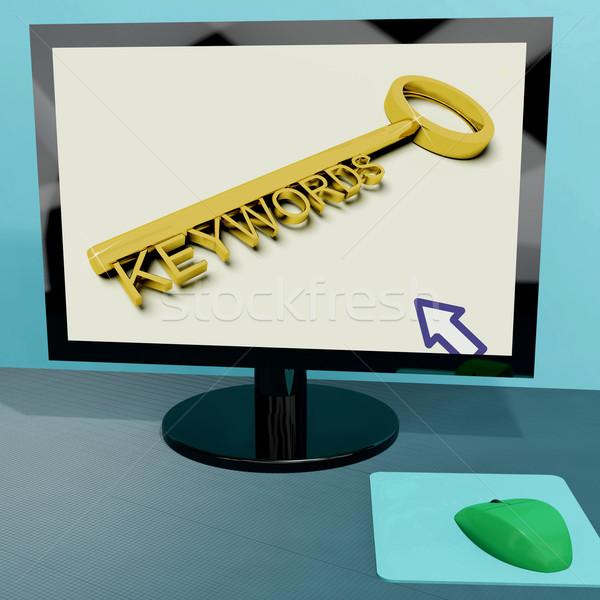 Sleutel computer online optimalisatie tonen internet Stockfoto © stuartmiles