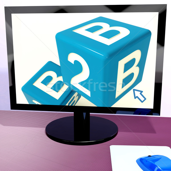 B2b Dice On Computer Shows Business And Commerce Stock photo © stuartmiles