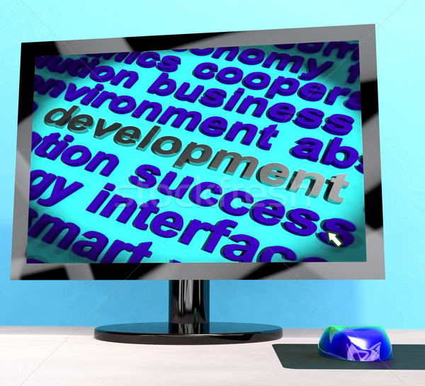 Development Word On Computer Showing Advancement Stock photo © stuartmiles