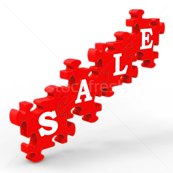 Stock photo: Sale Shows Symbol For Discount And Promotions