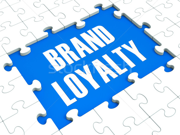 Brand Loyalty Puzzle Showing Trustworthy Products Stock photo © stuartmiles