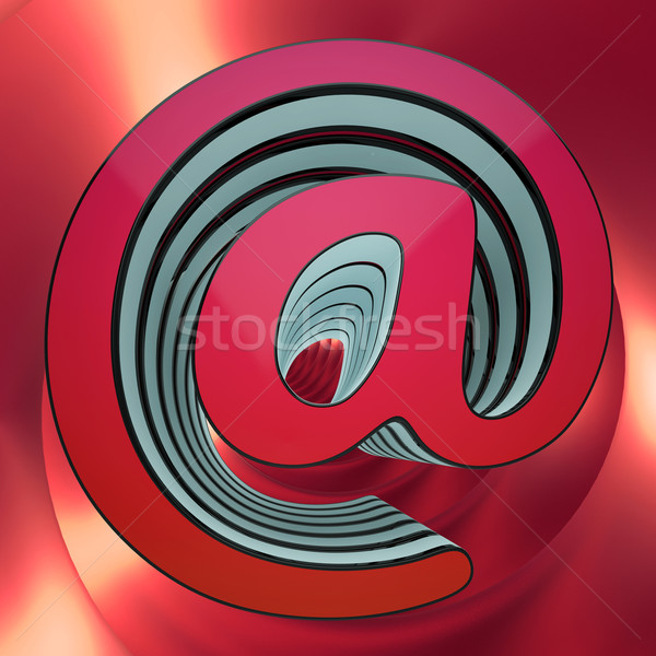At-Symbol Shows Email Message And Correspondence Stock photo © stuartmiles