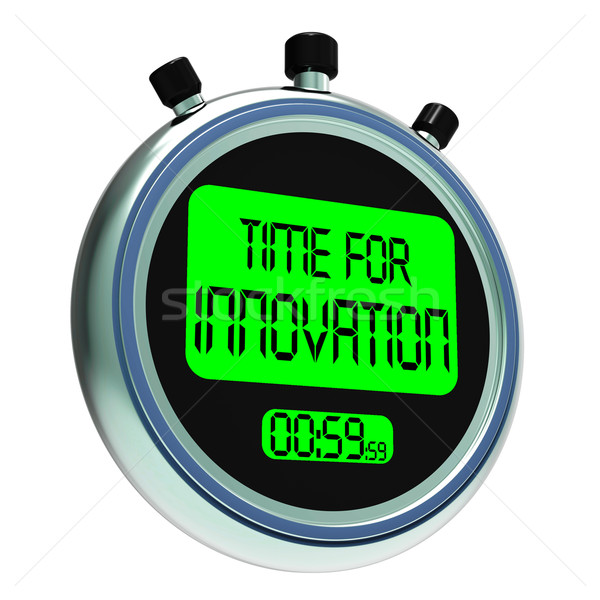 Time For Innovation Meaning Creative Development And Ingenuity Stock photo © stuartmiles