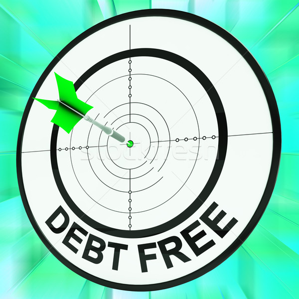Debt Free Shows Financial Wealth And Success Stock photo © stuartmiles