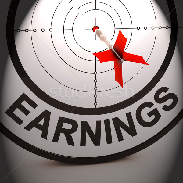 Earnings Shows Investment Profit Income And Dividends Stock photo © stuartmiles