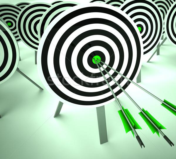 Alvo vitória estratégia excelência precisão Foto stock © stuartmiles