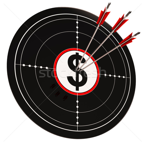 Dollar Target Shows Bucks Cash And Wealth Stock photo © stuartmiles