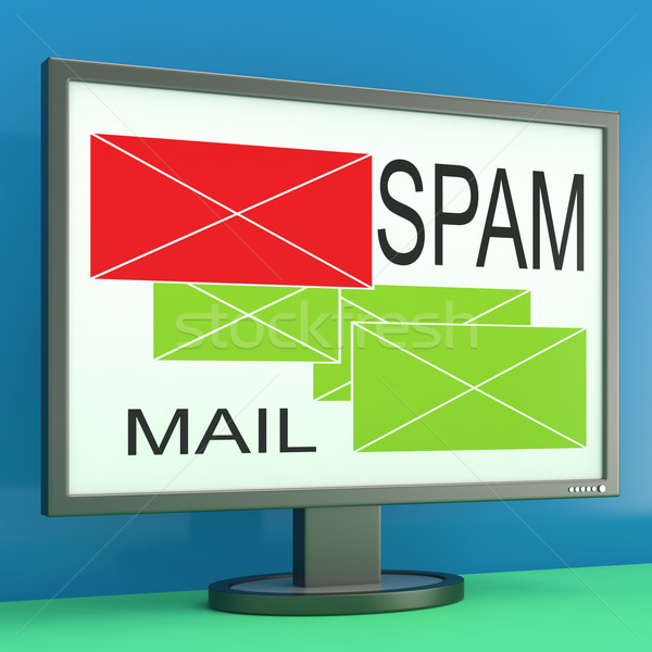 Spam posta monitor online biztonság kiválasztott Stock fotó © stuartmiles