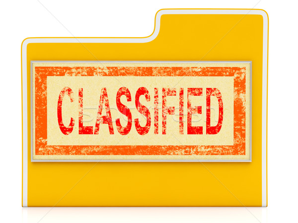 Classified File Shows Private Documents Or Papers Stock photo © stuartmiles