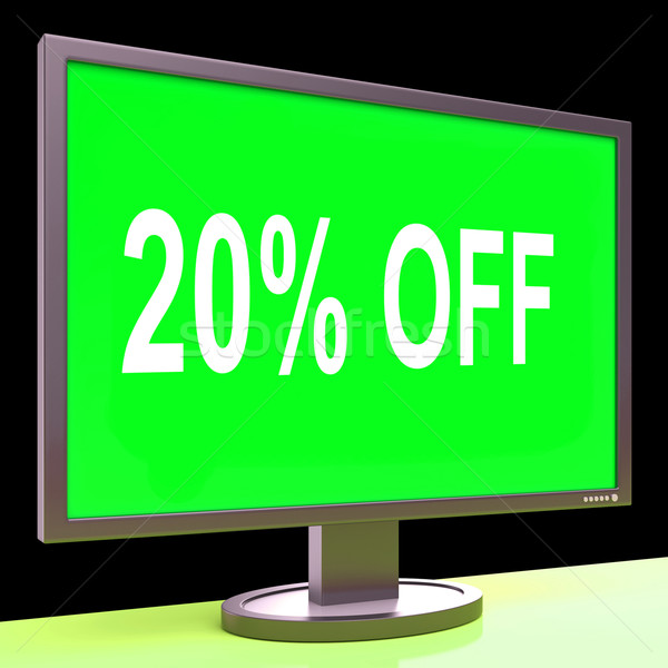 Twenty Percent Off Monitor Means Discount Or Sale Online