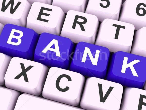 Bank Key Shows Online Or Electronic Banking Stock photo © stuartmiles