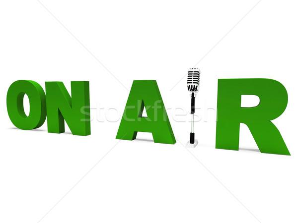 Aire radiodifusión estudio vivir radio Foto stock © stuartmiles