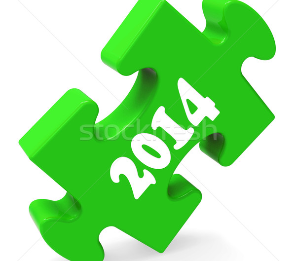 Two Thousand Fourteen On Puzzle Shows Year 2014 Stock photo © stuartmiles