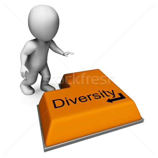 Diversità chiave multiculturale significato Foto d'archivio © stuartmiles