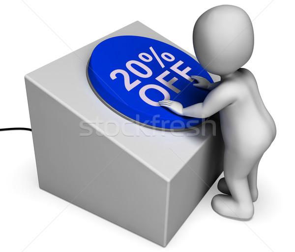 Vinte por cento botão 20 preço Foto stock © stuartmiles