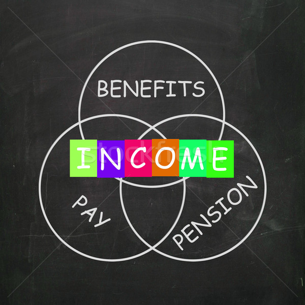 Financial Income Includes Pay Benefits and Pension Stock photo © stuartmiles