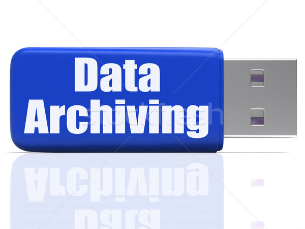 Data Archiving Pen drive Shows Files Organization And Transfer Stock photo © stuartmiles
