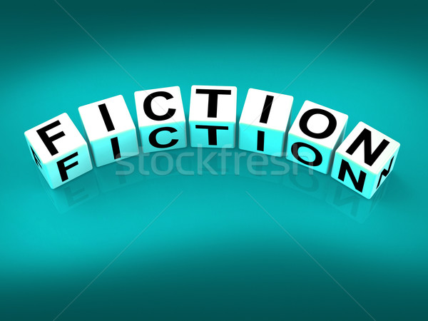 Fiction Blocks Show Fictional Tale Narrative or Novel Stock photo © stuartmiles