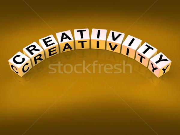 Creativiteit dobbelstenen inspiratie ideeën betekenis kunst Stockfoto © stuartmiles