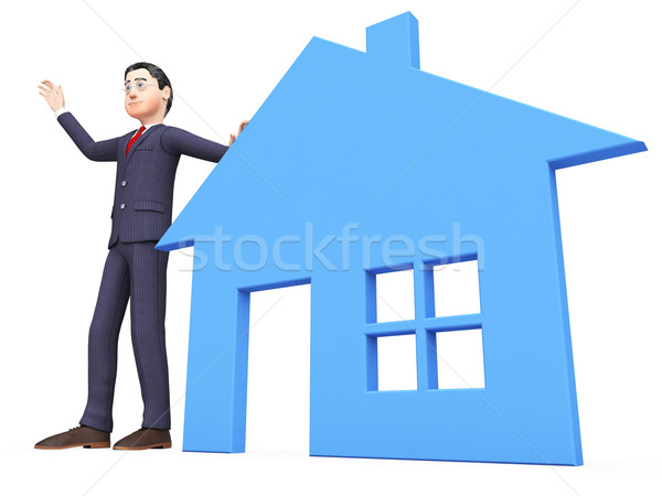 Real Estate Realtor Shows For Sale And Builds Stock photo © stuartmiles