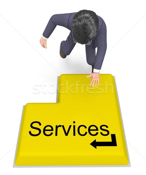 üzletember kiválaszt szolgáltatások segítség asztal támogatás Stock fotó © stuartmiles