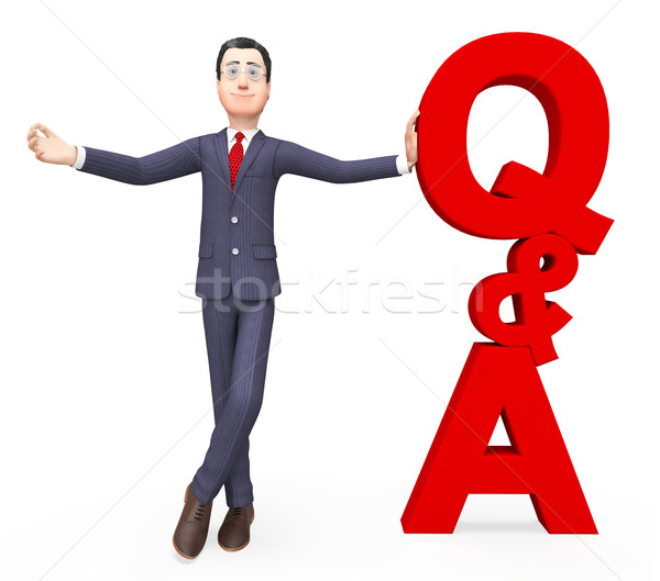 Q And A Means Frequently Asked Questions And Answer Stock photo © stuartmiles