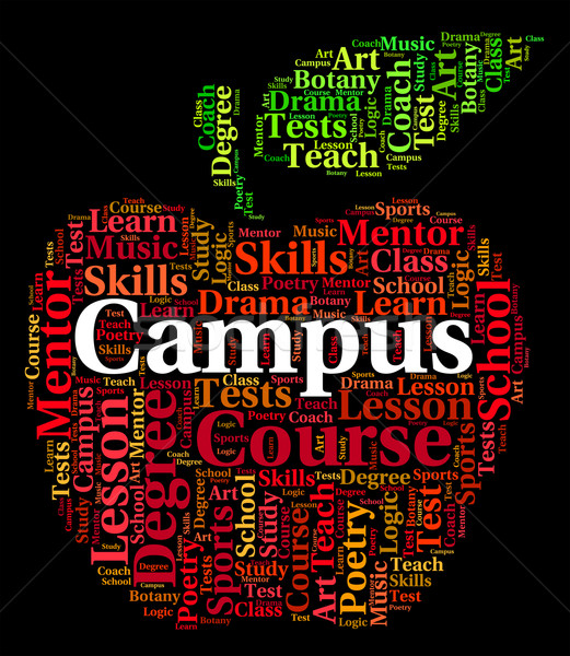 Campus Word Represents Academies Faculty And Institute Stock photo © stuartmiles