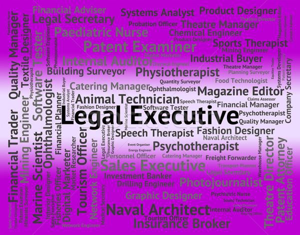Juridiques exécutif supérieurs administrateur directeur travaux Photo stock © stuartmiles