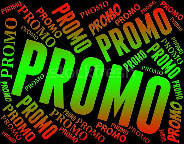 Promo kelime ucuz sözler teklif satış Stok fotoğraf © stuartmiles