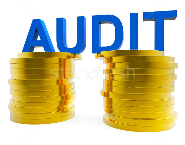 Audit Money Represents Balancing The Books And Accountant Stock photo © stuartmiles