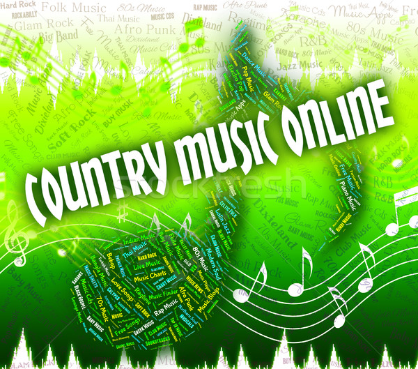 Country Music Online Means Web Site And Audio Stock photo © stuartmiles