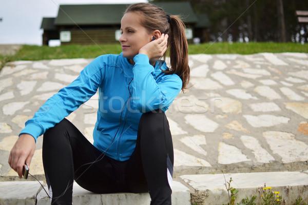 若い女性 行使 美しい スポーツ エネルギー 訓練 ストックフォト © studio1901