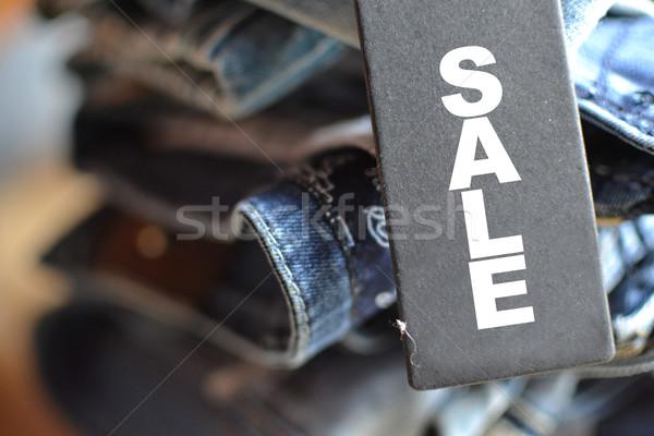 ジーンズ タグ デザイン ショッピング 青 ストックフォト © studio1901
