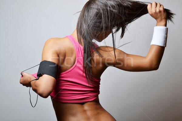 Mooie fitness vrouw sport model vrouwelijke Stockfoto © studio1901