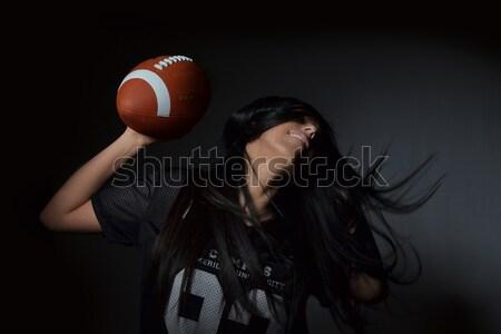 アメリカン サッカー 美しい 若い女性 スポーツ ストックフォト © studio1901