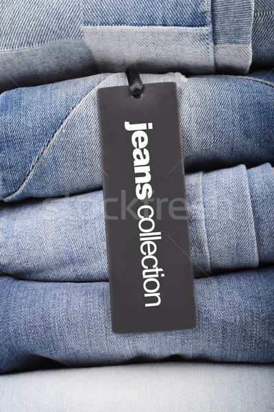 ジーンズ タグ スタック 折られた デザイン ショッピング ストックフォト © studio1901