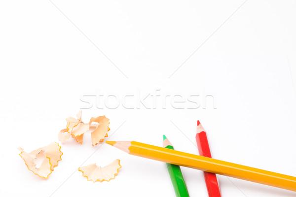 鉛筆 ピール 学校 白 ペン 学生 ストックフォト © Studio_3321