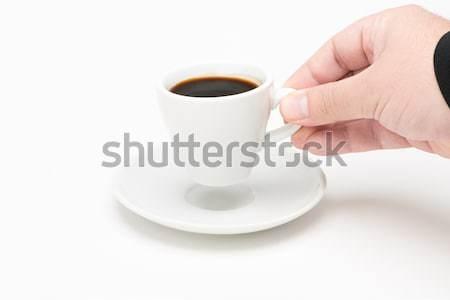 カップ コーヒー 手 白 食品 男 ストックフォト © Studio_3321