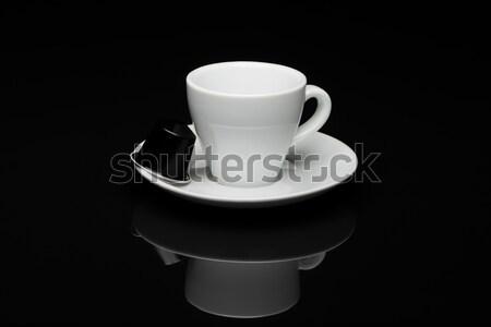 カップ コーヒーカップ コーヒー 黒 反射 ドリンク ストックフォト © Studio_3321